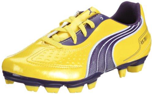 Puma  v5.11 i FG Jr, chaussures de sport - football mixte enfant Jaune - Gelb (vibrant yellow-parachute purple 05)