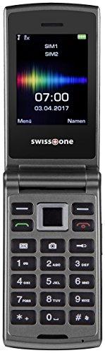 Swisstone SC 700 6,0 cm (2,4 Zoll) Dual SIM Handy (mit extra großem beleuchtetem Farbdisplay) titan