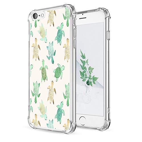 IPhone 6 Case 6S Caroki Transparent TPU Cute Turtle