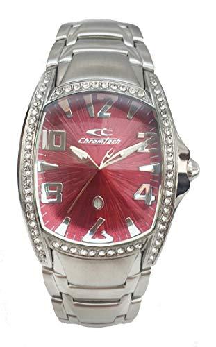 Chronotech orologio analogico quarzo donna con cinturino in acciaio inox ct7988ls-64m