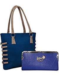 Alice Pu Leather Women's And Girl's Handbag And Wallet Clutch Combo