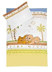julius z llner parure de lit roi lion avec housse 100 x 135 cm et taie 40 x 60 cm. Black Bedroom Furniture Sets. Home Design Ideas