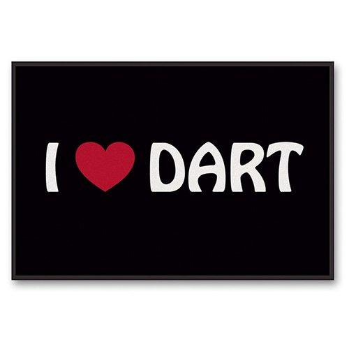 Schmutzfang-Matte I love Dart