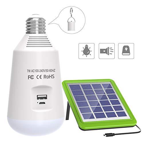 Especificaciones técnicas: • Capacidad de la batería: 2600 mAh • Cantidad del LED: 14pcs • Potencia: 7W • Voltaje de entrada: AC 100 - 240V / DC 5V • Lumevn: 560 lm • CCT: 8000K • CRI: 80Ra • Tiempo de trabajo: 6 horas • Tiempo de carga: 8 horas List...