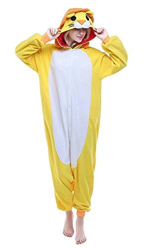 ene Onesie Pyjama Löwe Tier Cosplay Animal Halloween Kostüme S (Löwe Frauen Halloween Kostüm)