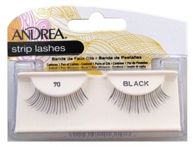 Andrea Strip Lashes Style 70 Black (6 Pack)