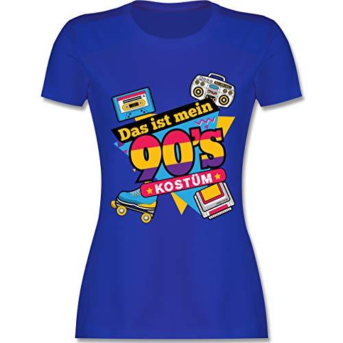 Karneval & Fasching - Das ist Mein 90er Jahre Kostüm - M - Royalblau - L191 - Damen Tshirt und Frauen T-Shirt