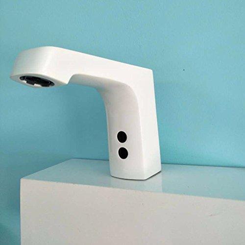 Bijjaladeva Wasserhahn Bad Wasserfall Mischbatterie Waschbecken Waschtisch Armatur für BadezimmerSensing Wasserhahn Sensor Wasserhahn für Fernerkundung Top Waschtisch Armatur B -