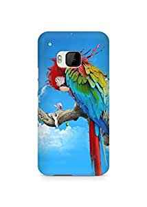 Amez designer printed 3d premium high quality back case cover for HTC One M9 (Parrot Painting)