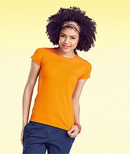 """Damen T-Shirt - """"Sofspun®"""" - Extra weich Orange"""