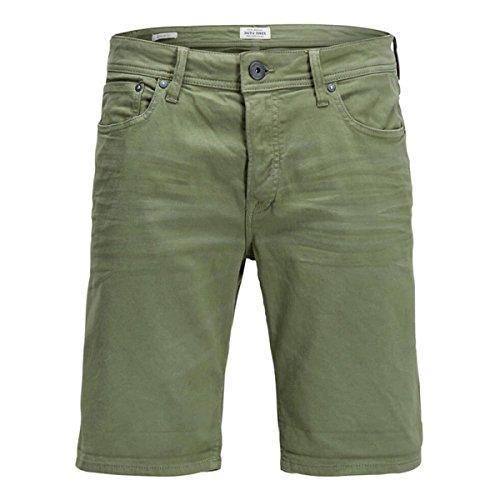 JACK & JONES Jjirick Dash AKM 297 Indigo Knit STS Pantalones Cortos, Verde Deep Lichen Green, 52 Talla...