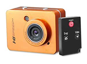 Caméra de Sport Pyle Appareil photo 12,0 Mpix HD 1080P Orange