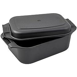 Karcher Sauteuse induction en fonte d'aluminium 2en1 avec couvercle / plat de cuisine, 8,7 litres, 41,5 x 25,5 cm