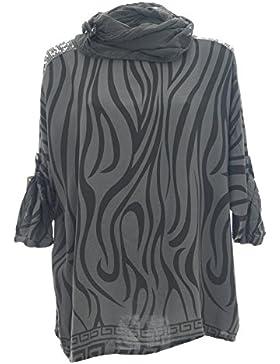 Moda Italy - Camisas - Túnica - Cuello redondo - para mujer