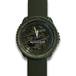 Wize &Ope CR - 2-Crunch-Armbanduhr Analog Silikon braun