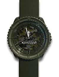 Wize & Ope  0 - Reloj de cuarzo unisex, con correa de silicona, color marrón