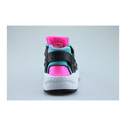Nike Huarache Run (Gs), Chaussures de Running Fille, Noir Noir (Black (Noir / Blanc-Rose Explosion-Gmm Bl))