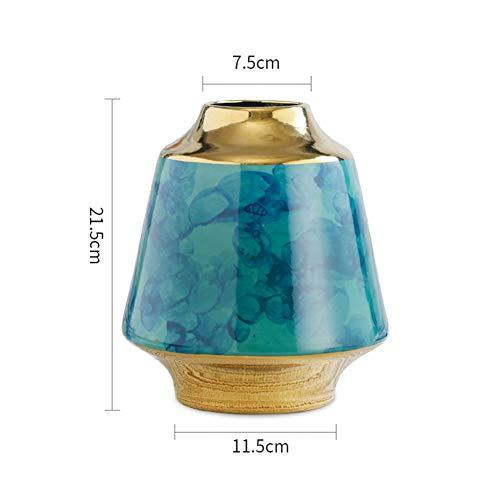 Keramik-Vase Living Room Simulation Blume Dekoration European Light Luxury Style Flower Inserter Soft Decoration,D