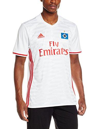 adidas Herren Hamburger SV Replica Trikot White/Scarlet L