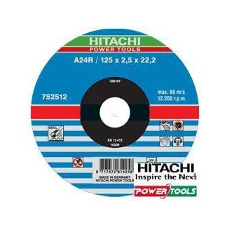 Hitachi 752511 – Disco corte 115 x 2,5 x 22,2 mm METAL, 1 unidad