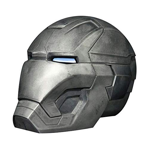 Metal 1: 1-Fernbedienungshelm, tragbar Tony Stark Mark 42 MK43 Cosplay-Maske Requisiten LED-Lichtaugen - Kollektion Display Marvel-Spielmodell (Farbe : C) ()
