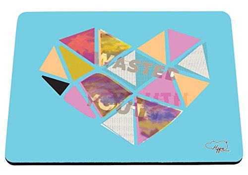 80 ' S Tee (hippowarehouse Wasted Youth Love Herz gedruckt Mauspad Zubehör Schwarz Gummi Boden 240mm x 190mm x 60mm, blau, Einheitsgröße)