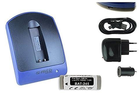 Akku + Ladegerät (Netz+Kfz+USB) für Canon NB-9L / Ixus 510 HS, 1100 HS... / Powershot N, N2 / SD4500 IS - s.