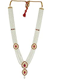 Anuradha Art Pink Colour Beautiful Classy Long Rani Haar Traditional Long Necklace For Women/Girls