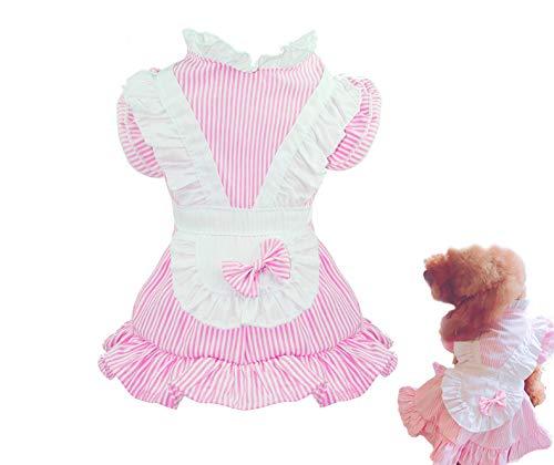 Puppy Face Hundekleid, Prinzessinnen-Kostüm für Kleine Hunde, Rosa, XL(16-24 lbs), Rose