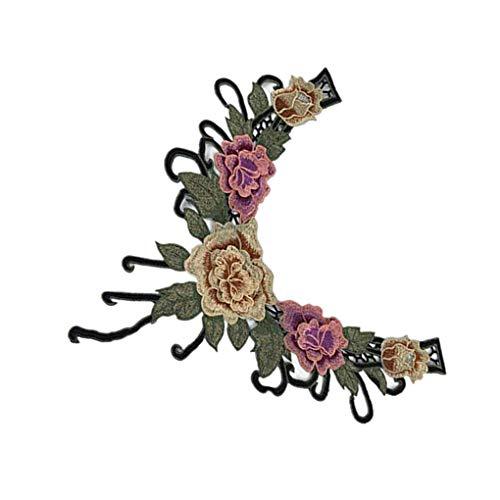 hnische Art-Stickerei-Blumen-Muster-Fälschungs-Kragen-Frauen-Spitze-Hals Kostüm DIY Zubehör ()
