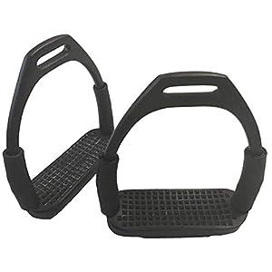 Tula-Toys 12cm Sicherheitssteigbügel Gelenk Steigbügel Pferd Metall Gelenksteigbügel schwarz
