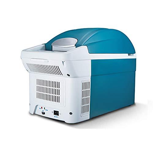 Refrigerador Para AutomóVil De 12 Voltios, Capacidad De 8.5 Litros, Viaje En El Hogar, Aislamiento Silencioso Refrigerado, Congelador Azul PequeñO