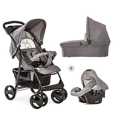 Hauck Shopper SLX Trio Set 3 in 1 Kombi Kinderwagen, Babyschale Gr. 0, Babywanne mit Matratze, Sportwagen, bis 25 kg, Liegefunktion, Getränkehalter, leicht, klein faltbar