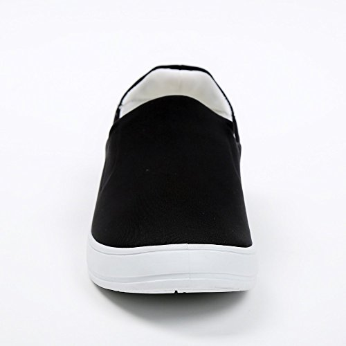 Ideal Shoes–slip-on Neopren Kaina Schwarz - Schwarz