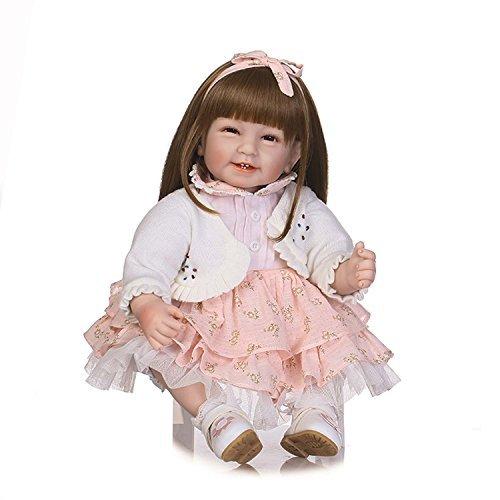 ee9d532acf9683 Terabithia 22 Pouces 55cm Cute Alive Collectible Magnetic Smiling Long Hair  Reborn bébé Poupées