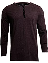 Brave Soul Mens Long Sleeved Buttoned T Shirt 69Marble