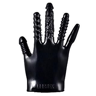 Zilosconcy Sex-Spielzeug Vibrator Flirten Magie Massage Handschuh Klitoris Stimulator Sex Toys für Erwachsene FFFSEX 5-in-1-Vibrationshandschuhe Sexspielzeug