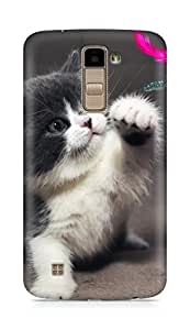 Amez designer printed 3d premium high quality back case cover for LG K10 (Cute Kitty)