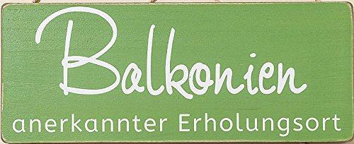 Gartenschild Balkonien 30x12cm