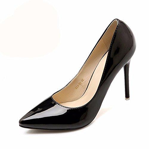 HXVU56546 Il Nuovo Elegante E Tacchi Alti In Primavera E In Autunno Scarpe Donna Single Scarpe Scarpe Da Lavoro Black