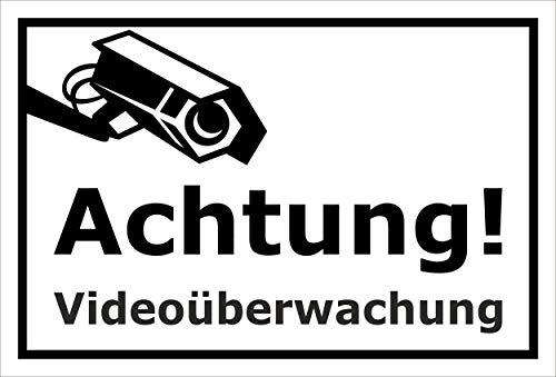 Melis Folienwerkstatt Schild - Video-überwachung - 15x10cm | 3mm Hartschaum - S00348-123-A 20 VAR Gefälschte Video-Überwachung
