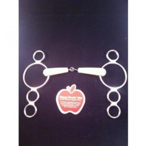 Happy Mouth Jointed Pessoa Dutch 3Ring Bit Apple Duft 4Größen Weich und langlebig 12.5 cm (Happy Apple Mouth)