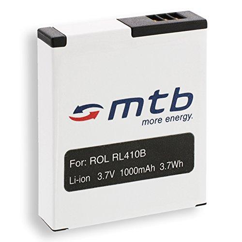 Ersatz-Akku RL410B für Rollei Action Cam 230, 240, 400, 410 / Maginon AC-800W [3.7V / 1000 mAh / Li-Ion]