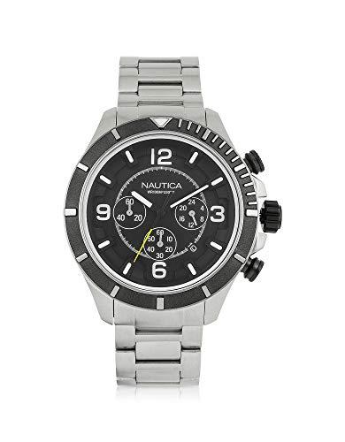 AZHAR AZHAR Herren Nai21506g Silber Stahl Uhr
