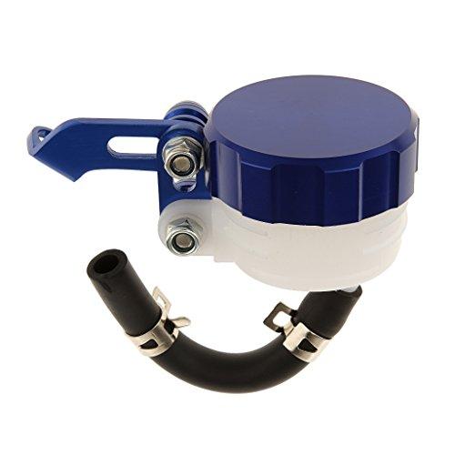 Generic Alluminio Motocicletta Frizione Tazza Olio Serbatoio Resevoir Liquido Accesorio Moto - Blu - Tubo Serbatoio Olio