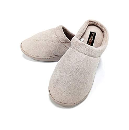 Miracle Slipper Gel Producto Oficial, Zapatillas de estar Por casa Unisex con propiedades antifatiga, Antideslizantes y con Plantillas amortiguadoras de Gel. Las únicas Originales (XXL, Beige)