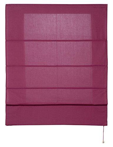 Estores Basic- Plegable con Varillas, Vino, 150x175 cm