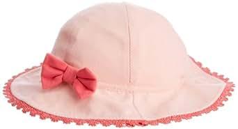 Pumpkin Patch Baby Girls Eastern Treasure Lace Trim Hat, Pink (Blossom), Newborn (Manufacturer Size:X-Small)