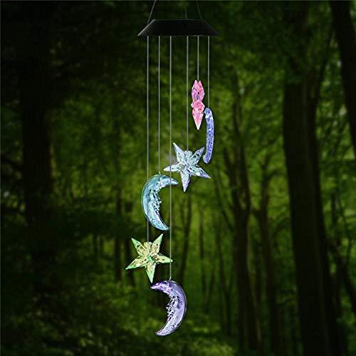 Farbwechsel LED Solar Mobile Wind Chime LED Lichtfarbe Wasserdichte Windspiele Für Home Party Night Garten Dekoration Solar-mobile