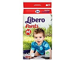 Libero Medium Size Diaper Pants (40 Counts)